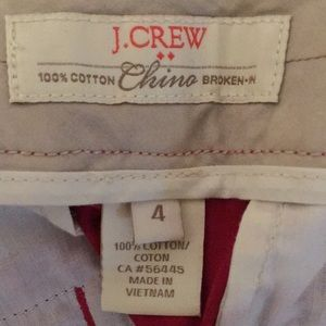 J. Crew Shorts - J.Crew red chino shorts